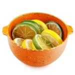 Zak Designs Sprinkle Orange Mini 15 Ounce Serving Bowl