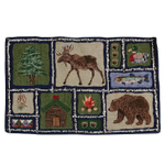 Park B Smith Lodge Cabin Theme Fabric 19 x 12.75 Inch Placemat