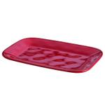 Rachael Ray Cucina Cranberry Red Stoneware 8 x 12 Inch Rectangular Platter