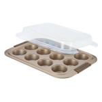 Anolon Advanced Bronze Bakeware 12 Cup Covered Muffin Pan