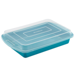 Silver Stone Marine Blue Nonstick Hybrid Ceramic 9 x 13 Inch Covered Cake Pan