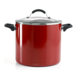 Farberware Red 10 Quart Covered Stockpot