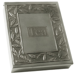 Old Dutch Pewter 9 Compartment Tea Bag Storage Box