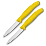 Victorinox Swiss Army Swiss Classic Collection Yellow 3.25 Inch Paring Knife, Set of 2