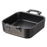 Revol Belle Cuisine Black Porcelain Deep Square 12.25 Ounce Baking Dish