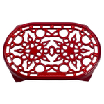 Le Creuset Cherry Enameled Cast Iron 10.5 Inch Oval Trivet