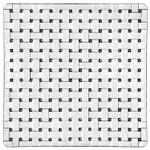Nachtmann Bossa Nova Crystal 8 Inch Square Platter, Set of 2