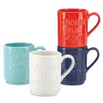 kate spade new york kitchen Words 4 Piece Stacking Coffee Mug Set