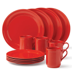 kate spade new york kitchen Sculpted Scallop Red 12 Piece Dishware Set