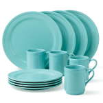 kate spade new york kitchen Sculpted Scallop Turquoise 12 Piece Dishware Set