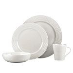 Lenox Tin Can Alley Seven Degree White 4 Piece Dinnerware Place Setting