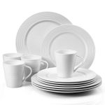 Lenox Tin Can Alley Seven Degree White 12 Piece Dinnerware Set, Service for 4