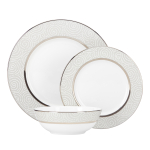 Lenox Pearl Beads 3 Piece Dinnerware Place Setting