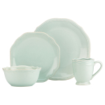 Lenox French Perle Bead Ice Blue 4 Piece Dinnerware Place Setting