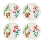 Lenox Butterfly Meadow Melamine 9 Inch Accent Plate, Set of 4