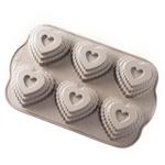 Nordic Ware Cast Aluminum Tiered Heart Cakelet Pan