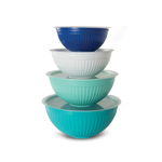 Nordic Ware Coastal blue 8-Piece Covered Bowl Set