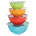 Nordic Ware Colorful 8-Piece Covered Bowl Set