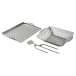 Nordic Ware Stainless Steel 3 Piece Grilling Set