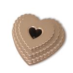 Nordic Ware Cast Aluminum Tiered Heart Bundt Pan