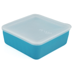 Frego Glass and Blue Silicone Non-Toxic 4 Cup Food Storage Container