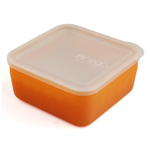 Frego Glass and Orange Silicone Non-Toxic 2 Cup Food Storage Container