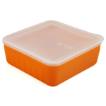 Frego Glass and Silicone Non-Toxic 4 Cup Food Storage Container