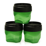 Zak Planet Emerald 2 Ounce Mini Condiment Storage Container, Set of 3