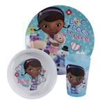 Zak Designs Disney Junior Doc McStuffins 3 Piece Kid's Dinnerware Set