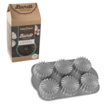 Nordic Ware Ruffled Medallion Cast Aluminum Cupcake Pan with Double Chocolate Cake Mix