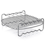 Philips Viva Airfryer Plated Steel Double Layer Insert Rack with Skewers
