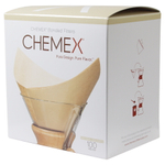 Chemex Bonded Pre-folded Unbleached Square Coffee Filters, Set of 200
