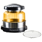 NuWave Oven Pro Plus with Stainless Steel Extender Ring and Additional 9.25 Inch Cooling Rack