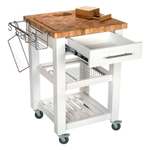 Chris & Chris White 24 x 24 Inch Pro Chef Work Station