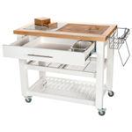 Chris & Chris White 24 x 40 Inch Pro Chef Work Station