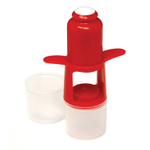 Norpro Red Cherry and Olive Pitter with Seed Cup and Shield