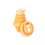 HYDAWAY Tangerine Silicone Collapsible 21 Ounce Water Bottle