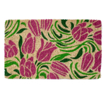 Entryways Blushing Tulips Hand-Woven Coir Welcome Mat