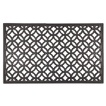 Entryways Recycled Rubber Circle Chains Welcome Mat