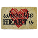 Entryways Where The Heart Is Hand-Woven Coir Welcome Mat