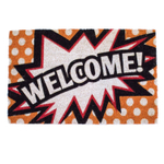 Entryways Comics Welcome Hand-Woven Coir Welcome Mat