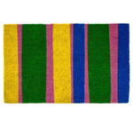 Entryways Bands of Color Hand-Woven Coir Welcome Mat