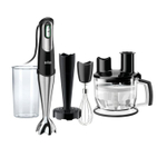 Braun Multiquick 7 Black and Stainless Steel Smart Speed Hand Blender with 6 Cup Food Processor