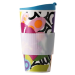 French Bull Oasis Porcelain 16 Ounce Traveler Cup with Silicone Sleeve and Lid