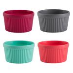 Trudeau Assorted Color Silicone Ramekin, Set of 4