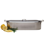 RSVP Endurance Stainless Steel Fish Poacher Pan with Handles, 18 x 7 Inch