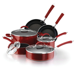 Farberware Millennium Red Porcelain Nonstick 12 Piece Cookware Set