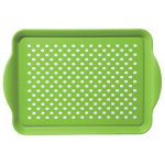 Oggi Rubbergrip Green Non-Skid Rectangular Serving Tray