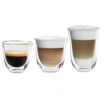DeLonghi 6 Piece Double Wall Barista Glass Set