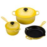 Le Creuset Signature Soleil Enameled Cast Iron 5 Piece Cookware Set